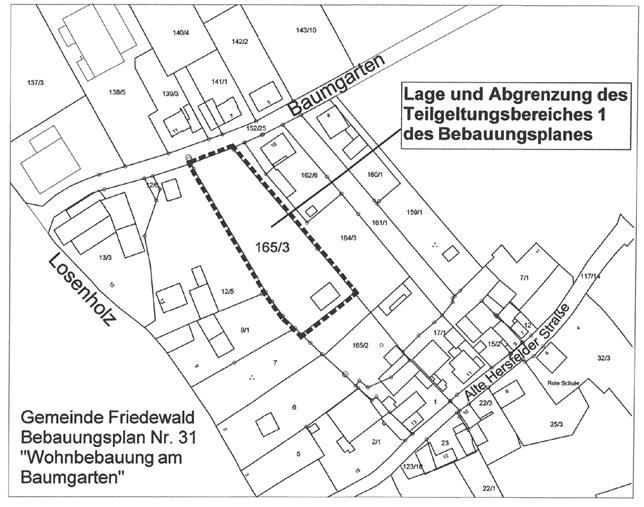 Bebauungsplan Nr. 31 - Wohnbebauung am Baumgarten